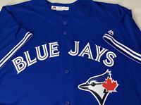 Toronto Blue Jays Majestic Jersey NEW Sewn Stitched Button Up COOLBASE 2XL MLB