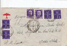 REGNO-Due 50c+Quattro 1L(251+14 P.Aerea)-Aereogramma Roma->Addis Abeba 11.3.1938