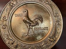 """Brass Vintage English Pub """"Courage� Brewery Advertising Wall Hanging Plaque"""