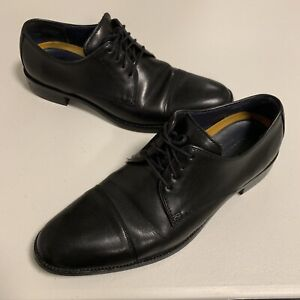 Cole Haan Grand OS Black Leather Dress Shoe Men's 10M Oxford Derby Lace Up