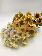 Flower Picks Sunflowers Daffodils Pansies Vintage Nos Yellow some w/tags lot/20