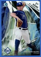2017 Bowman Draft Chrome Top of the Class Box Topper SP 14/99 Brendan McKay Rays
