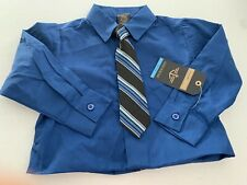 Dockers Regular 3T Blue Shirt With Tie