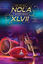 Super Bowl XLVII ~ NOLA Logo 02-03-13 ~ NFL Football Poster ~ RP5865 ~ Superbowl