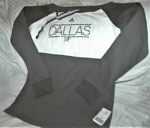 Dallas Stars sweatshirt women's medium Adidas NHL winter gear gray 2018 season