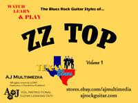 Custom Guitar Lessons, Learn ZZ Top v1 (full DVD-Video Version)