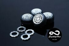 "Factory81 RM012 1/24 15"" Mugen CF-48 set (4 Wheels with Tyres)"