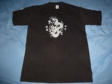 Vintage Sportswear Tag CHINESE DRAGON YEAR OF THE DRAGON Black T Shirt sz S