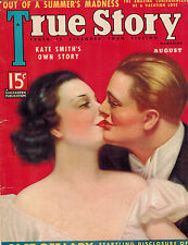 TRUE STORY  Aug 1937 Pulp Mag AWSOME STAGED PHOTOS Great Ads Kate Smith + MORE