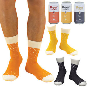 Men's Fun Novelty Funky Cotton Beer Socks In A Can Gift Box | One Size: 6-11 UK