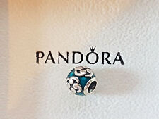 Retired Pandora Zen Turquoise Green Inlaid Enamel Charm