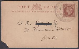 Penny Postage Jubilee South Kensington SHS on QV Stationery Postcard; 1890;scans