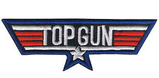 EMBROIDERED TOP GUN PATCH iron on cloth badge Tom Cruise MAVERICK US fighter jet