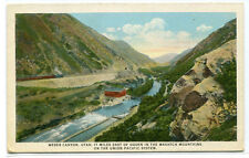 Railroad Train Union Pacific System Weber Canyon Wastch Mountains Utah postcard