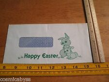 1979 Disneyland employees check mailing envelope Happy Easter rabbits art