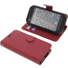 Funda para CAT S30 Book Style Funda protectora Teléfono móvil estilo libro rojo