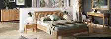 Schlafzimmer 3tlg. Set Bett Massivholz Möbel Nachttische 2x Betten Echtes Holz