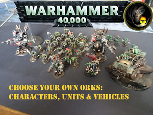Well Painted ORK MULTILIST - Warhammer 40k figures, vehicles & units - GW  A23