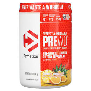 Dymatize Nutrition, Perfectly Engineered Pre WO, Pre-Workout Formula, Pineapple