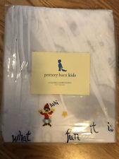 Pottery Barn Kids Jingle Bells Embroidered Crib Bedskirt Dust Ruffle Holiday