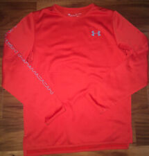 NWOT Under Armour UA Boy Youth Large Beta Red/Gray Cold Gear Fleece Lined Shirt