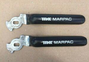 "2 New Marpac Ball Valve Handles 6 7/8"" Long Flat Lever Style Steampunk Art Craft"
