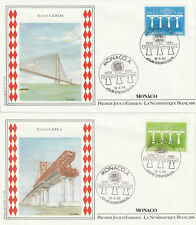 MONACO 1er Jour : EUROPA  C.E.P.T. 1984 :  2 env : N°1418 & 1419