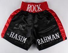 HASIM RAHMAN AUTOGRAPHED BOXING TRUNKS (THE ROCK) W/ PROOF! - MAB HOLOGRAM!