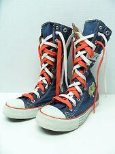 """Foxy Denim 10"""" Tall High Top Sneakers Shoes Women's EU38  US5.5 Zipper"""