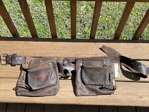 Craftsman Professional Leather Tool Belt Heavy Duty 13 Pockets 40522