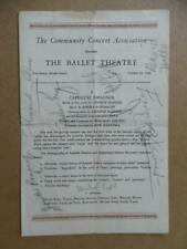 1943 THE BALLET THEATRE Program Signed with 15 Autographs Michael Kidd More