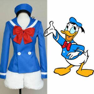 Disney Mascot Donald Duck Cosplay Costume Outfit Sailor Suit Fancy Dress