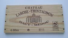 Façade de caisse de vin en bois Chateau LAROSE TRINTAUDON Haut Médoc