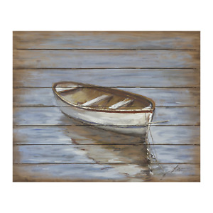 Painting Calm Waters Print Artwork Wall Décor Wood Frame 90 X 60cm