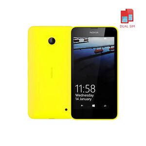 Nokia Lumia 630 Microsoft Windows Mobile Phone 8GB Yellow DUAL SIM UK Unlocked