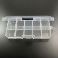 1 Piece Transparent Plastic Box 10 Compartments Jewelry Craft Beads Storage Case