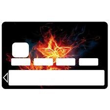 Stickers Autocollants Skin Carte de Crédit CB fleur 01 1065 1065