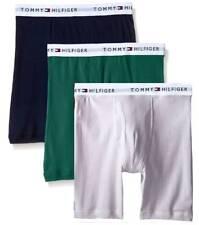 $68 Tommy Hilfiger Underwear Men Blue Green Classic Boxer Briefs 3-Pack Size S