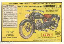 1950 - Doc papier/clipping - ANCIEN MOTO VELOMOTEUR 125 cm3 HIRONDELLE  (1page)