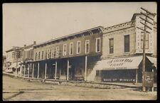 WINSLOW IL Illinois c1910 RP Main Street- Niemeyer Drug Store & Ice Cream Parlor