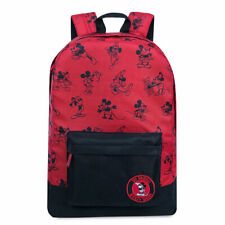 Disney Store Mickey Mouse Memories Backpack School Laptop Book Bag Red Tote New