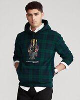 NWT POLO RALPH LAUREN Men's XXL Plaid Duffel Bear 2020 Holiday Sweatshirt Hoodie