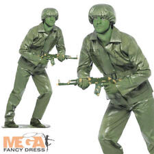 Smiffy's Toy Soldier Costume With Top Trousers Belt Hat and Foot Base - Green