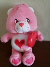 "Care Bears LOVE A LOT 7"" RED HEART Plush Stuffed Animal"