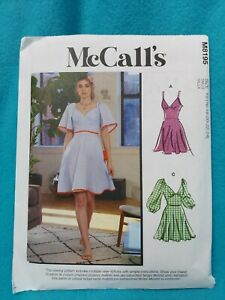 Mccalls pattern 8195 Dress Plus size 16-24  Vintage Style Cottage Core Boho New!