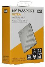 OB Western Digital My Passport ULTRA 4TB Portable External HDD Silver WDBFTM0040