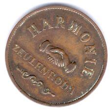 seltene Medaille Zeulenroda um 1890 (Cu.) Gebäude//Harmonie, ss