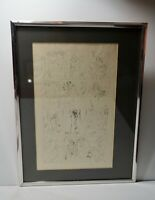 """Original Ink Drawing """" Dreams and Life Of a Poet With Hommage to Picasso Signed"""