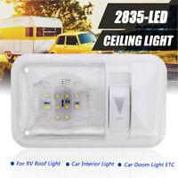 Dimmer RV Interior Led Ceiling Light Boat Camper Single Panel Dome 12V 280LM