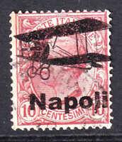 ITALY SCARCE NAPOLI BIPLANE OVERPRINT COLLECTION LOT #4 F/VF SOUND